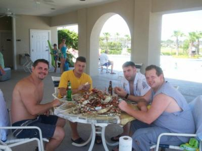 Friends, Beer and Blue Crabs!