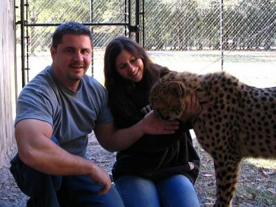 Chillin' with a cheetah!