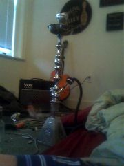 my fav hookah. which is why it sits next to my bed