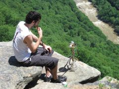 hookah on a cliff