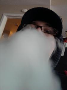 The clouds from my pumpkin, using some grape herbal shisha.