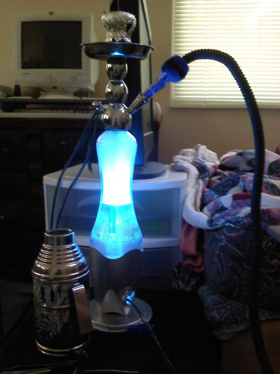 lava lamp hookah prototype 1