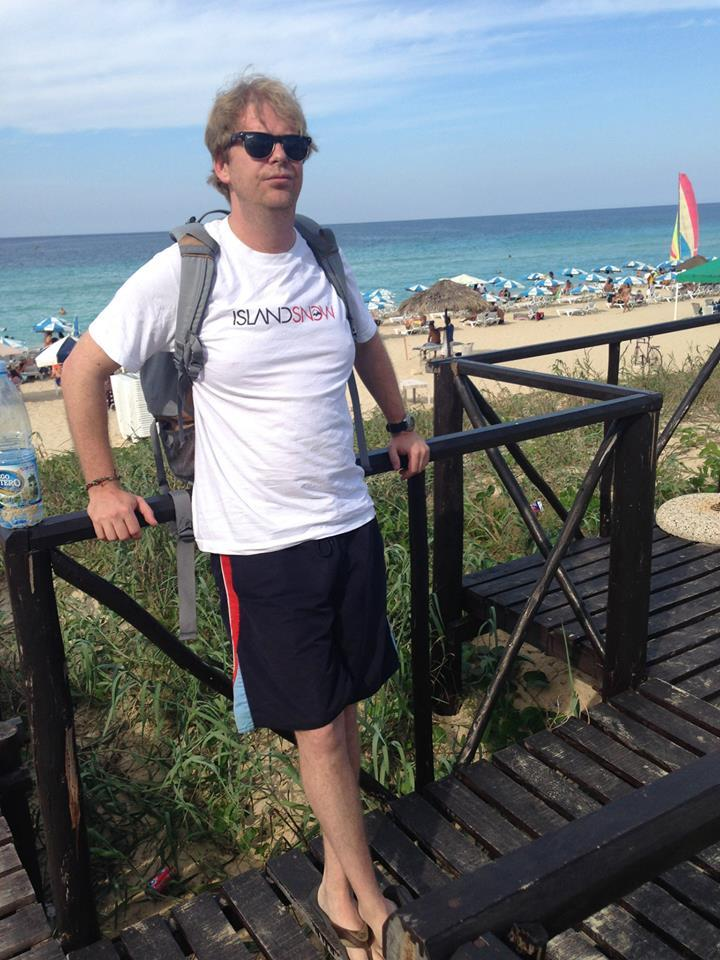 On a beach east of Havana, Cuba. Playa Santa Maria
